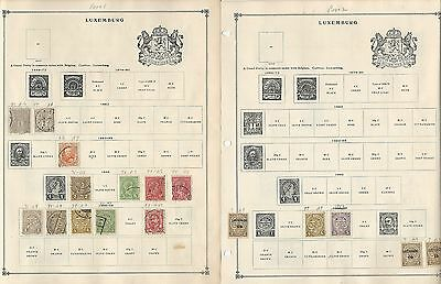 Luxembourg Collection on Scott International Pages, 1859-1992, Around 35 Pages