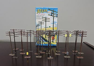 Lot Of 22 Vintage Atlas Ho Scale #755 Telephone Poles In Original 12 Count Box