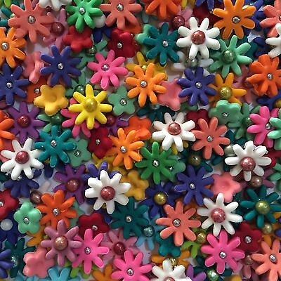 Edible Sugar Flowers X 100- Mixed Colours & Mixed Varieties Cake Toppers
