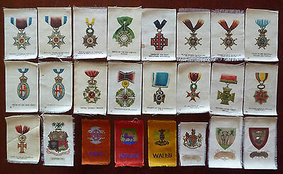 1915 Imperial Tabacco Silk Military Medals Lot of 24
