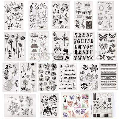 Alphabet Flower Magic Clear Rubber Stamp Diary Scrapbooking Decorating DIY Craft