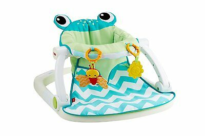 Fisher Price Sit Me Up FLOOR SEAT, Supportive Upright BABY SEAT, Citrus Frog
