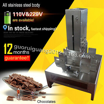 stainless steel chocolate scraping machine,electric chocolate block shaving mach