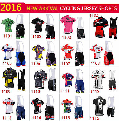 Hot 2016 new cycling Jersey trouser BIB short shorts clothing wear suit 16 style