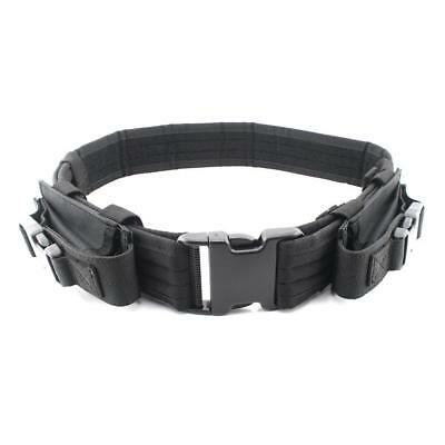 """Tactical Belt Heavy Duty Gear Utility Pistol Belt with Dual Mag Pouch Fits 44"""""""