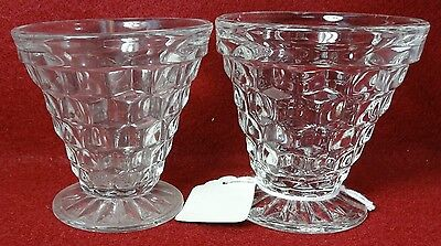 """FOSTORIA crystal AMERICAN 2056 pattern #003 - 2 Oyster Fruit Cocktails 2-7/8"""""""