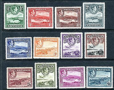 ANTIGUA-1938-51 A mounted mint set to £1 Sg 98-109
