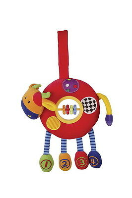5539 Isabell Educational Motor Activity Soft Toy Hanging Cow Tactile Baby Gift