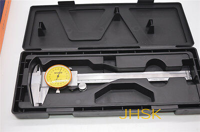 Dial Caliper with 6 Inches Measuring Range Stainless Steel 0-150mm
