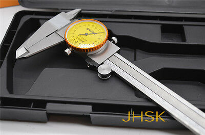 Dial Caliper with 8 Inches Measuring Range Stainless Steel 0-200mm high quality