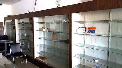 Tall Wall DISPLAY CASE Retail Store 6ftWx7ftH Very Nice Front Load