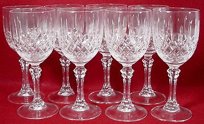 """CRISTAL d'ARQUES Durand crystal ST. CLOUD pattern WINE GOBLET 6-1/4"""" setof EIGHT"""
