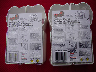 Lot of 2(4 total) Severe Weather Brand  Deluxe Porch Brackets Item #7191 2 Pairs