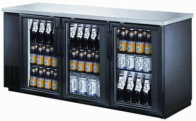 UBB-24-72G Glass Door Back Bar Cooler ( Free Shipping )