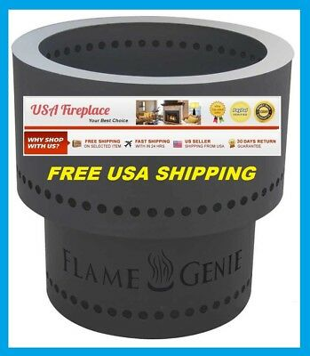 FLAME GENIE Fire Pit Burns Wood Pellets #FG16 FREE USA SHIPPING! NEW MODEL! HY-C