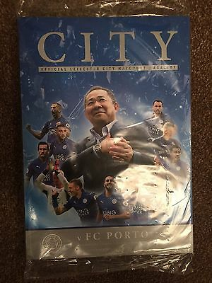 Official Leicester City Vs FC Porto Champions League Programme BRAND NEW SEALED!