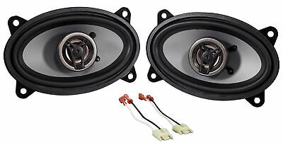 """250W 4 x 6"""" Front Factory Speaker Replacement Kit For Jeep Wrangler Yj 1987-1995"""