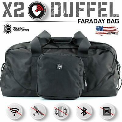 Mission Darkness X2 Faraday Duffel Bag - 5th Gen Electronic Device Shielding