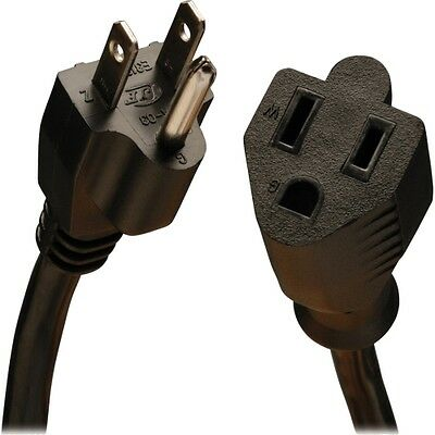 Tripp Lite 10ft Power Cord Extension Cable 5-15P to 5-15R Heavy Duty 15A 14AWG 1