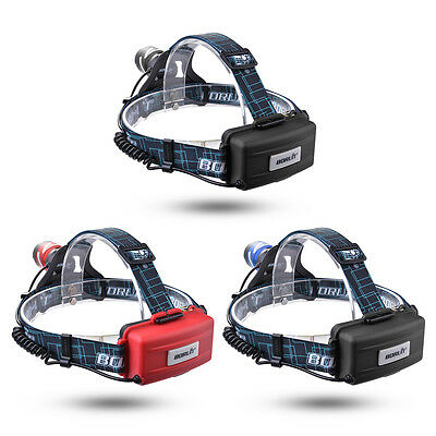 BORUiT 1200LM CREE G2 LED Headlight USB Rechargeable Headlamp Torch 3 Modes