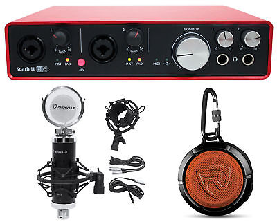 Focusrite SCARLETT 6I6 2nd G 192kHz USB Audio Recording Interface+Mic+Speaker