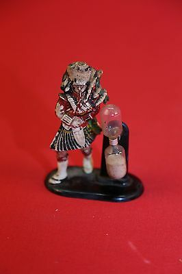 Vintage Scotsman playing bagpipes hour glass timer made in England
