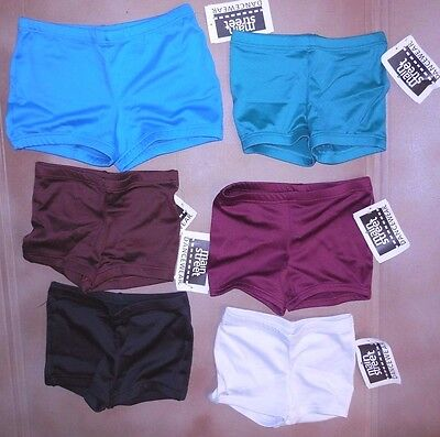 NWT Boy Cut Shorts Booty Shorts 6 Colors Girls/Ladies Spandex Dance Cheer