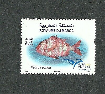 2016- Morocco- Maroc- Fish in Euromed, Joint & common issue- MNH**