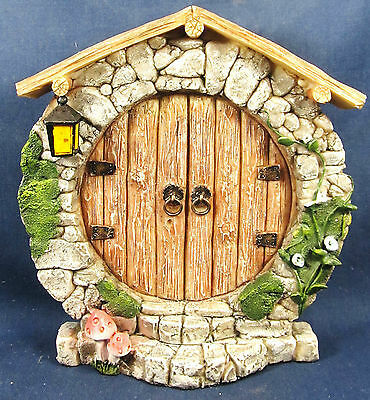 Fairy Double Door Stone Front w/oak planks Garden Fantasy Collection