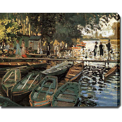 Claude Monet 'Bathing at La Grenouillere' Gallery-wrapped Canvas Art