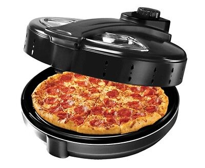 "Pizza Oven Maker Cooker 12"" Ceramic Stone Rotating Cooking Plate 1300W Electric"