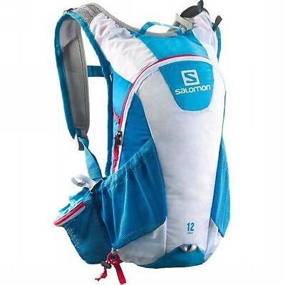 Backpack Backpacks Outdoor Trail Running SALOMON AGILE 12 SET colour Methyl Blue