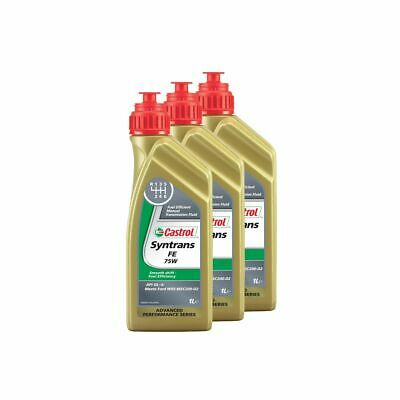 Castrol Syntrans Fully Synthetic FE 75W API GL-4 Transmission Fluid - 3 Litre