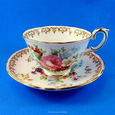 Crown Staffordshire England's Bouquet Crown Staffordshire Teacup and Saucer Set