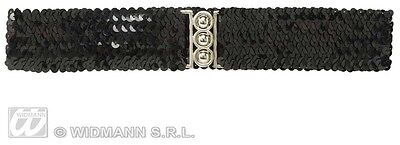 CINTURA NERA IN PAILLETTES Costume Widmann Accessori Gold Belt Donna 115 8167N