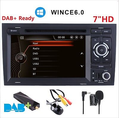 "7"" Audi A4 S4 Navigation Multimedia GPS Car DVD Player sat nav Stereo WINCE 6.0"