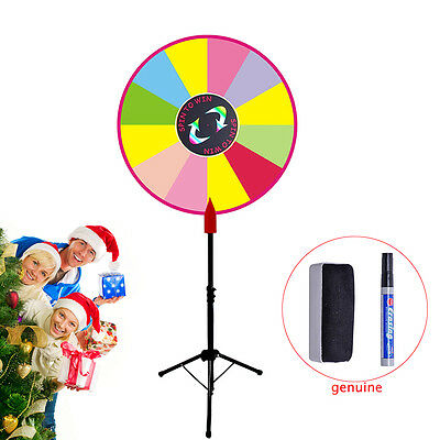 """24"""" Editable Prize Wheel Dry Erase Color Fortune Spinning Game Carnival+Stand US"""
