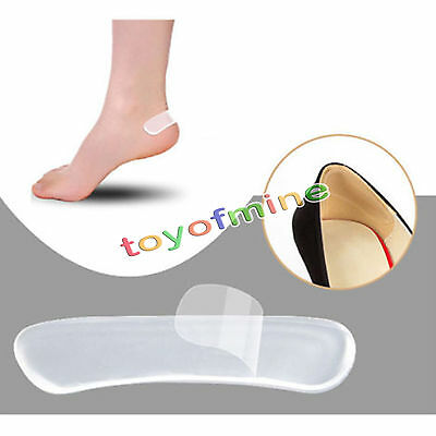 1Pair Silicone Gel Heel Cushion protector Foot feet Care Shoe Insert Pad brioche