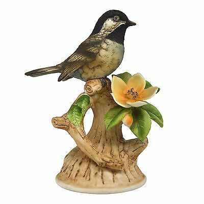 Highly Detailed Vintage Black Cap Chickadee Figurine by Andrea Mint Condition