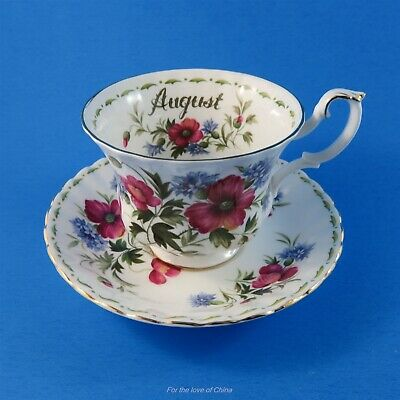 Royal Albert Flower of the Month August Poppy Teacup and Saucer Set