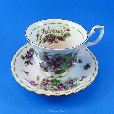 Royal Albert Flower of the Month February Violets Teacup and Saucer Set