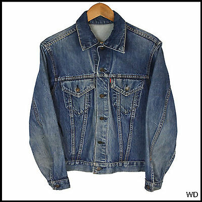 Vintage Levi Big E Levis Denim Jacket Capital E Original Size Uk Small 38