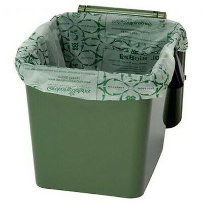 KITCHEN CADDY BIODEGRADABLE FOOD WASTE BAGS COMPOSTABLE Waste Garden