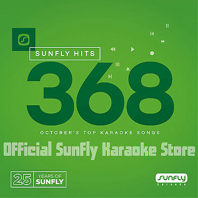 Sunfly Karaoke Hits SF368 October 2016 (CDG) Official From Sunfly - Free UK Post