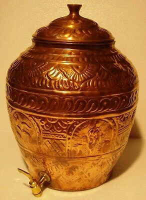 Vintag Style Water Tank - 100% PURE COPPER - 15 INCHES MATKA POT TANK