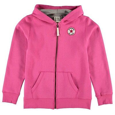 Converse Girls Full Zip Hoody Pink 13-15 Years