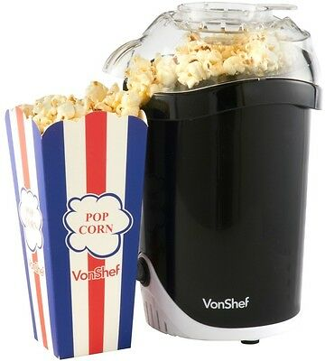 Electric Hot Air Healthy Popcorn Maker Machine 1200W Perfect For Cinema Nights