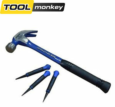 Vaughan Steel Eagle Claw Pro Hammer with Free Punch Set 567g (20oz) XMS16HAMMER