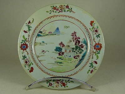 ASSIETTE PORCELAINE CHINE 18ème QING PORCELAIN PLATE CHINA QING 18th MUNT FUJI