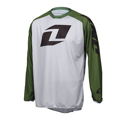 One Industries Atom Icon Grey / Green Motocross Mx Mtb Bike Cycle Jersey